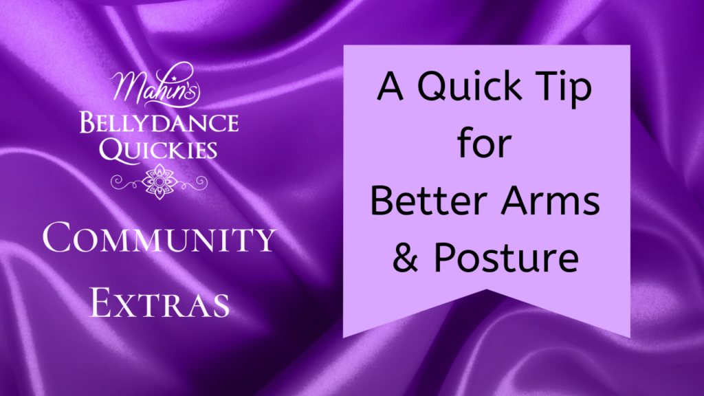 A Tip for Better Arms & Posture